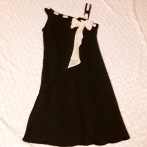 Stunning Evan-Picone black & cream dress